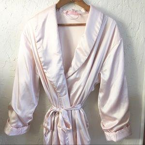 Soft Luxurious Light Pink Full Satin Robe